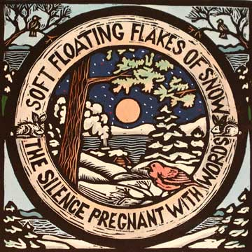 Woodcut - Floating Flakes of Snow